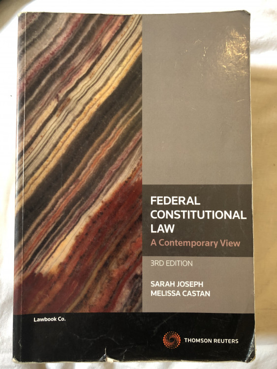Federal Constitutional Law: A contemporary view — StudentVIP