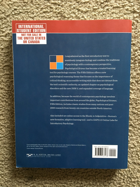 gazzaniga m. (2018) psychological science. 6th edition. norton