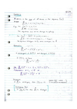 Neat, coloured, complete Calculus 2 Notes and Examples – StudentVIP
