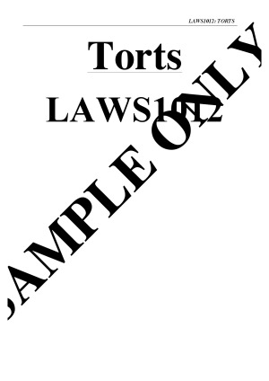 Comprehensive Torts Notes with Case Summaries + Exam