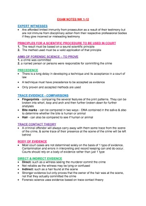 Forensic Science Study Notes Studentvip