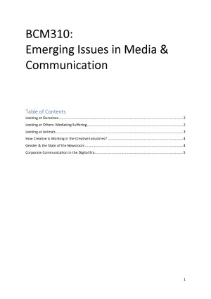 BCM310 Emerging Issues in Media &