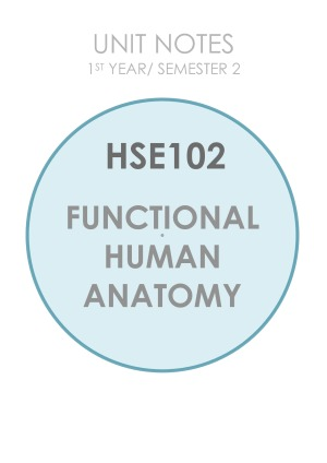 Hse102 Functional Human Anatomy Exam Notes Studentvip Notes