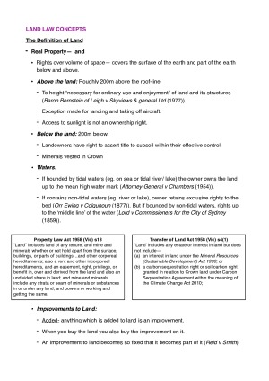 Foundations of Property Law Subject Notes – StudentVIP Notes