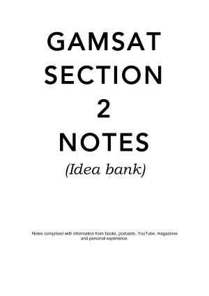 GAMSAT Section 2 notes