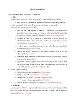 Regulation of Business Exam Notes – StudentVIP Notes
