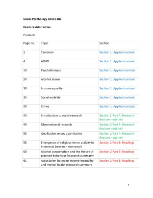Exam revision notes - social psychology – StudentVIP Notes