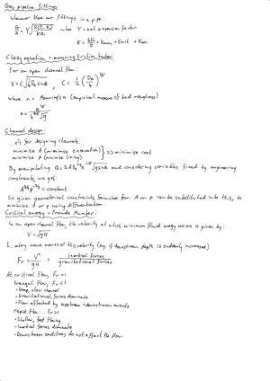 Fluid Mechanics - Summary of Selected Topics – StudentVIP Notes