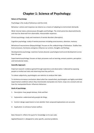 UWA Psychology Notes – StudentVIP Notes