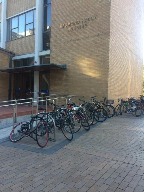 Bike racks on eastern side