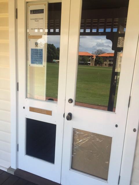 Convocation council room entrance
