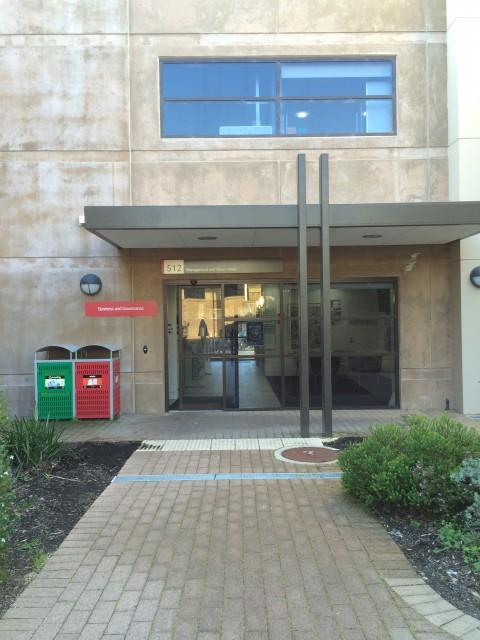 Entrance through Murdoch Business Building (south side)