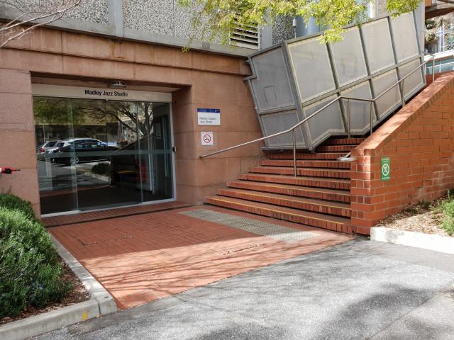 Madley (jazz) studio basement entrance