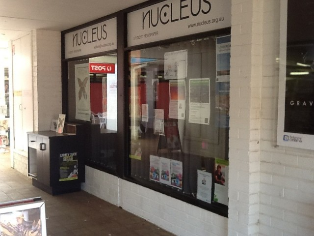 Nucleus Student Newspaper -entrance is around to the right
