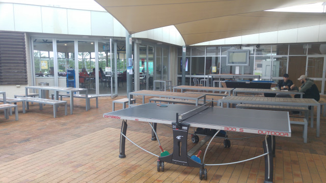 Exceptionnel Photots Of Sitting Area, Pool Table And Ping Pong Table. Outside Bar Cafe  And Subway