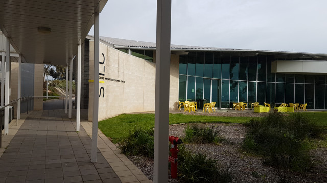SILC entrance from the Earth Sciences building.