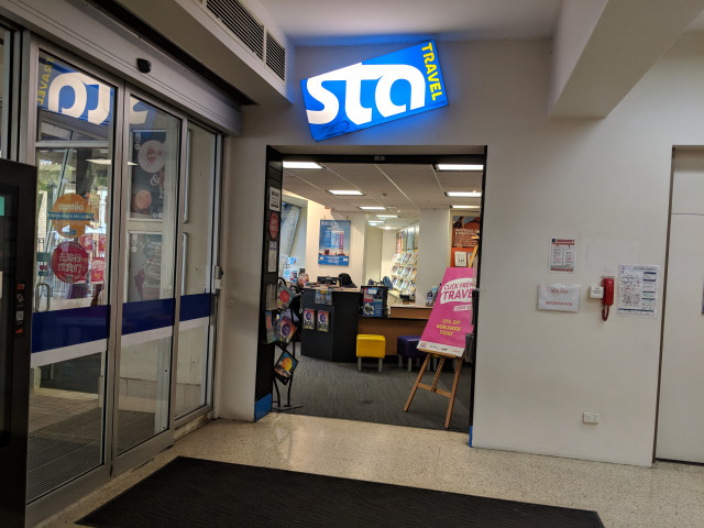 STA travel, near the North Court entrance